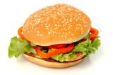 big hamburger isolated poster