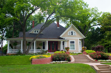 classic house with flower garden 2