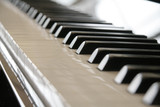 close up shot of piano keys poster