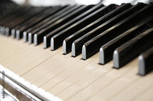 poster of close up shot of piano keys