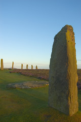 ring of brodgar at sunrise
