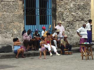 straßenmusikanten in kuba