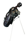 golf-clubs in a bag isolated poster