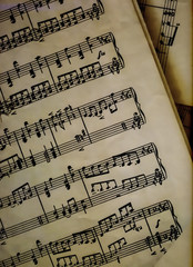 music on a paper