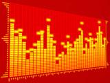 equalizer digital (red) poster