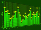 equalizer digital (dark green) poster