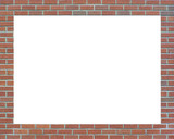 brick picture frame poster