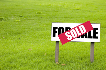 sold sign for sale sign