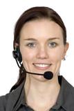 beautiful customer service girl poster