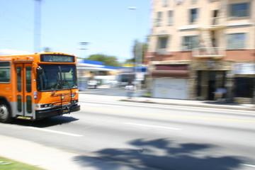 orange line los angeles rushing downtown