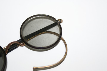 glasses. isolated on a white background.