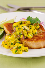 swordfish with tropical salsa