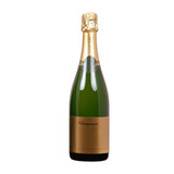 isolated bottle of champagne with blank label poster