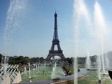 paris eiffel tower and fountain poster