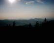 berglandschaft in der abendsonne