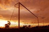 soccer sunset poster