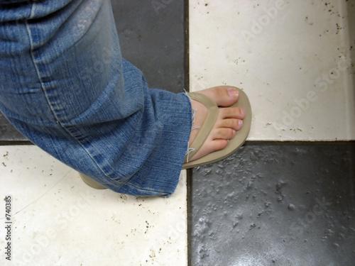 tan flip flop