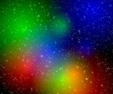 multicolor flashes in space poster