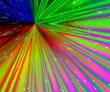 rainbow rays poster