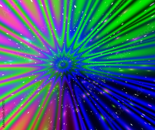 poster of color rays