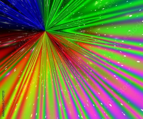 poster of rainbow rays