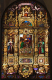 stained-glass window of science and art poster