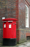 red postbox, london poster