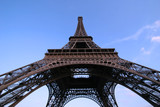 eiffel tower wide angle poster