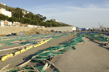 drying the nets