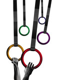 gymnastic rings poster