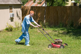 teenager mowing the lawn 5 poster
