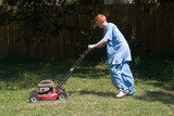 teenager mowing the lawn 6 poster