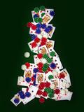 playing cards gambling poker chips poster