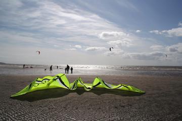 kiteboard at beach