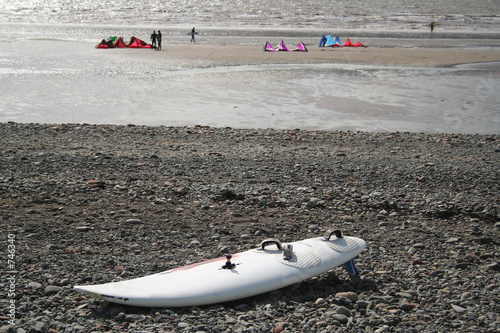 kite board on beach