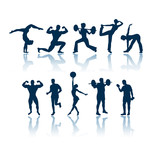Fototapety fitness silhouettes