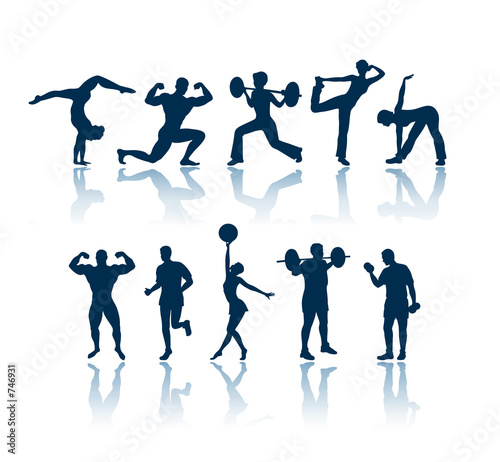 poster of fitness silhouettes