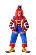 wrestling-pose clown