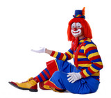 sitting clown - Fine Art prints