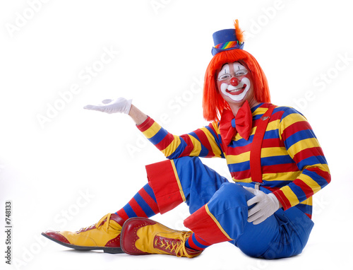 sitting clown