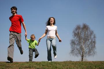 running family. spring. 2