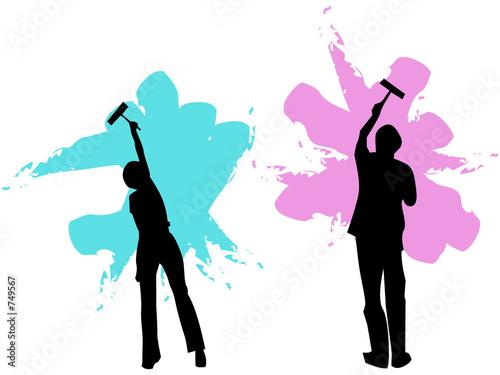 Peinture d 39 un mur de tadamee photo libre de droits 749567 sur - Droit locataire peinture murs ...