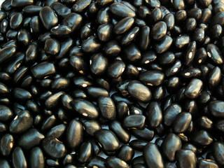 shiny black beans