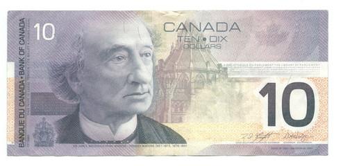 10 canadian dollars