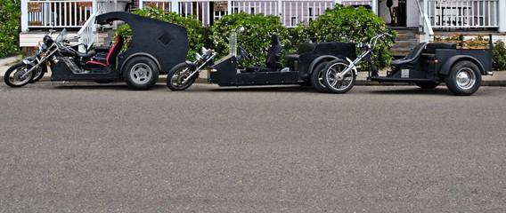 three custom trikes