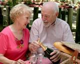 picnic seniors - loving gaze poster