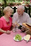 picnic seniors - opening wine poster
