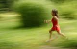 girl runing poster