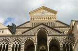 facade of amalfi cathedral poster