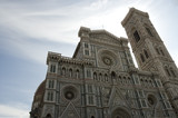 duomo of florence on a cloudy sky poster